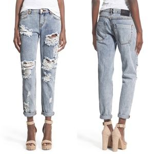 One Teaspoon Awesome Baggies Distressed Jeans 27